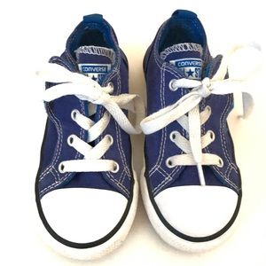 Boys converse with Velcro sides Easy On/Off